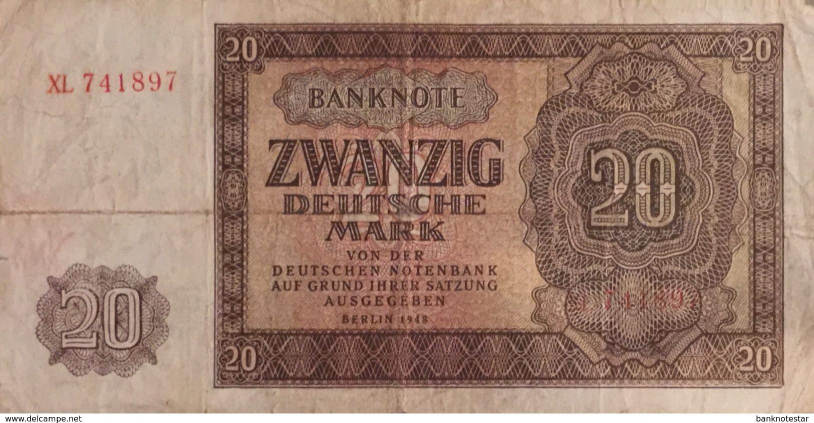 Germany East 20 Deutsche Mark, SBZ-15c/Ro.344c (1948) - Fine - [ 6] 1949-1990 : RDA - Rep. Dem. Tedesca