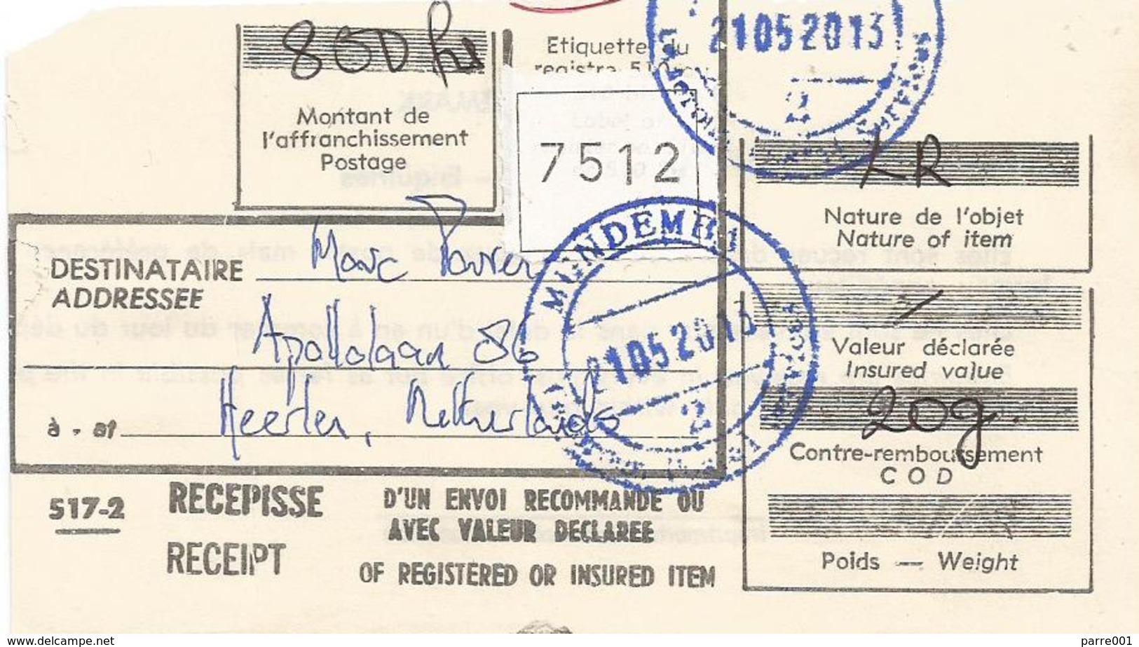 Cameroun Cameroon 2013 Mundemba Index 2 National Symbols Independence Registered Cover - Kameroen (1960-...)