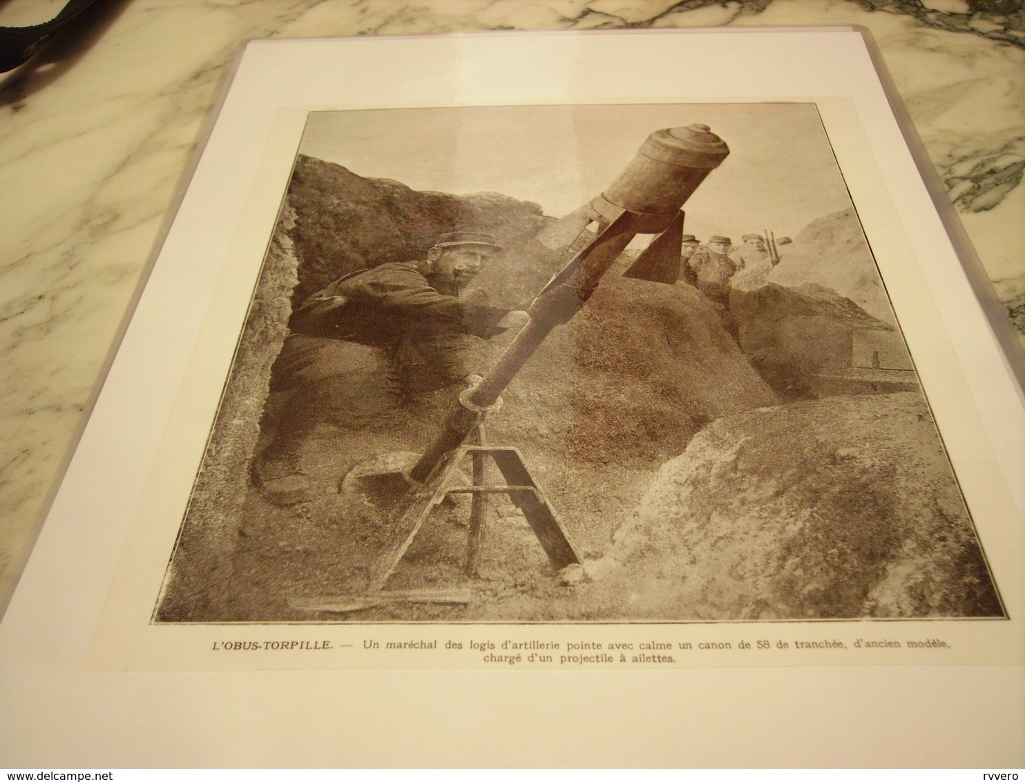 AFFICHE PHOTO OBUS TORPILLE 1915 - 1914-18