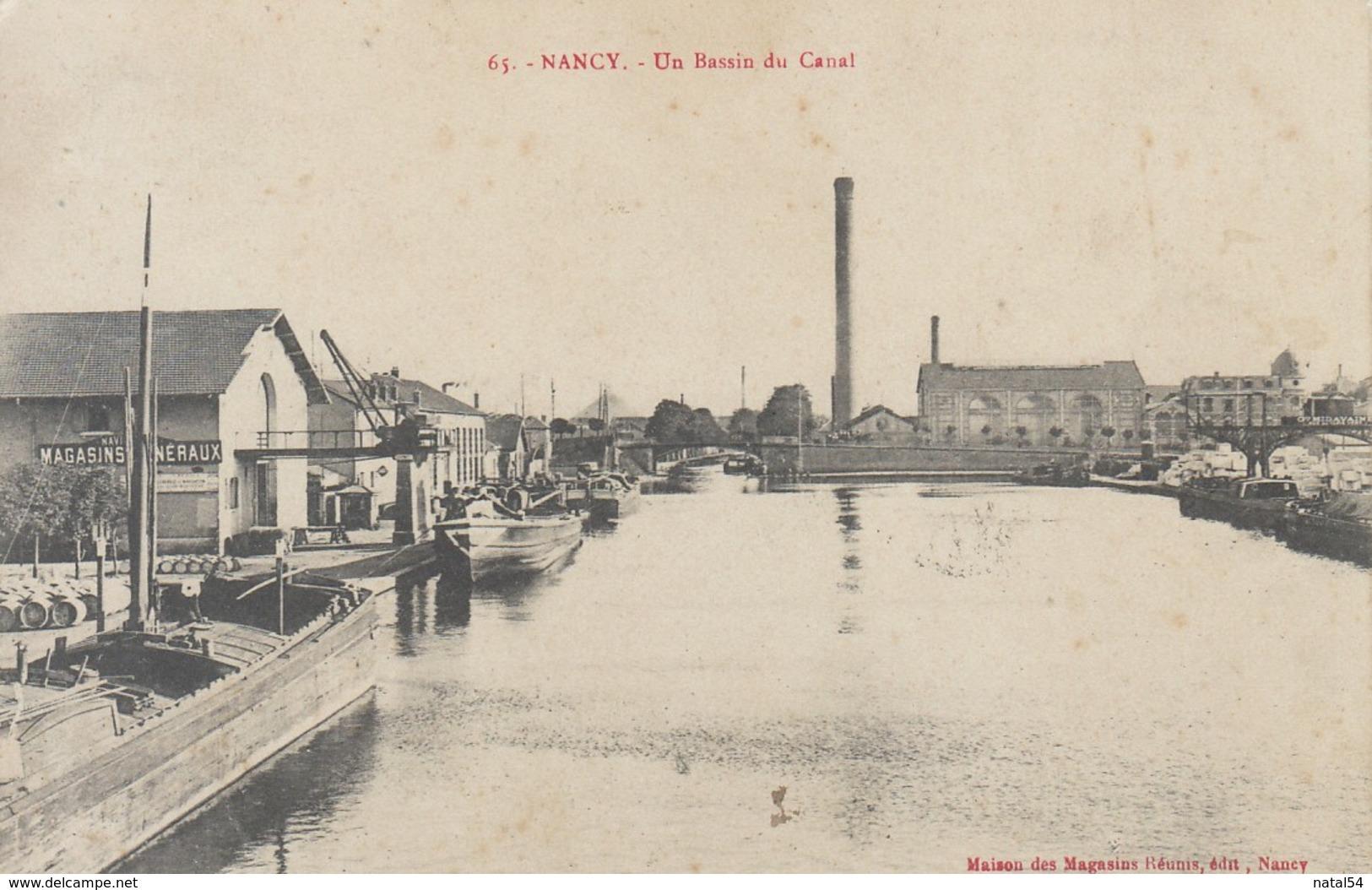 54 - Nancy : Un Bassin Du Canal - CPA écrite - Nancy