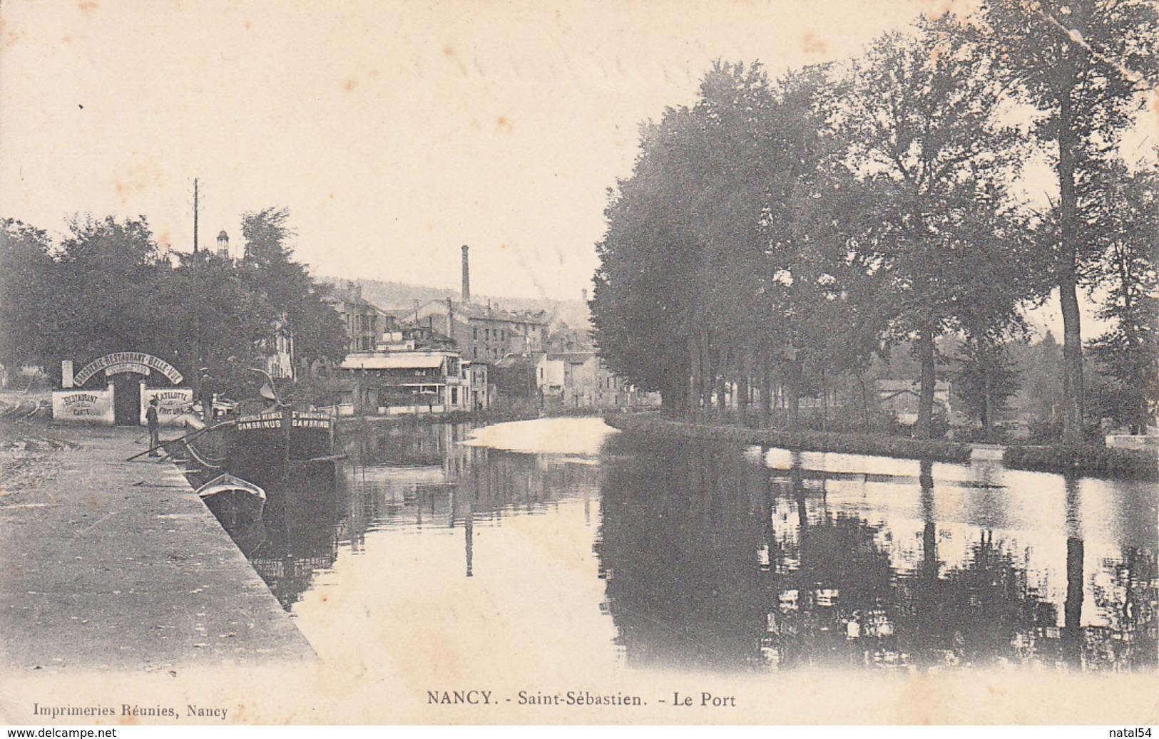 54 - Nancy : Saint Sébastien - Le Port - CPA écrite - Nancy