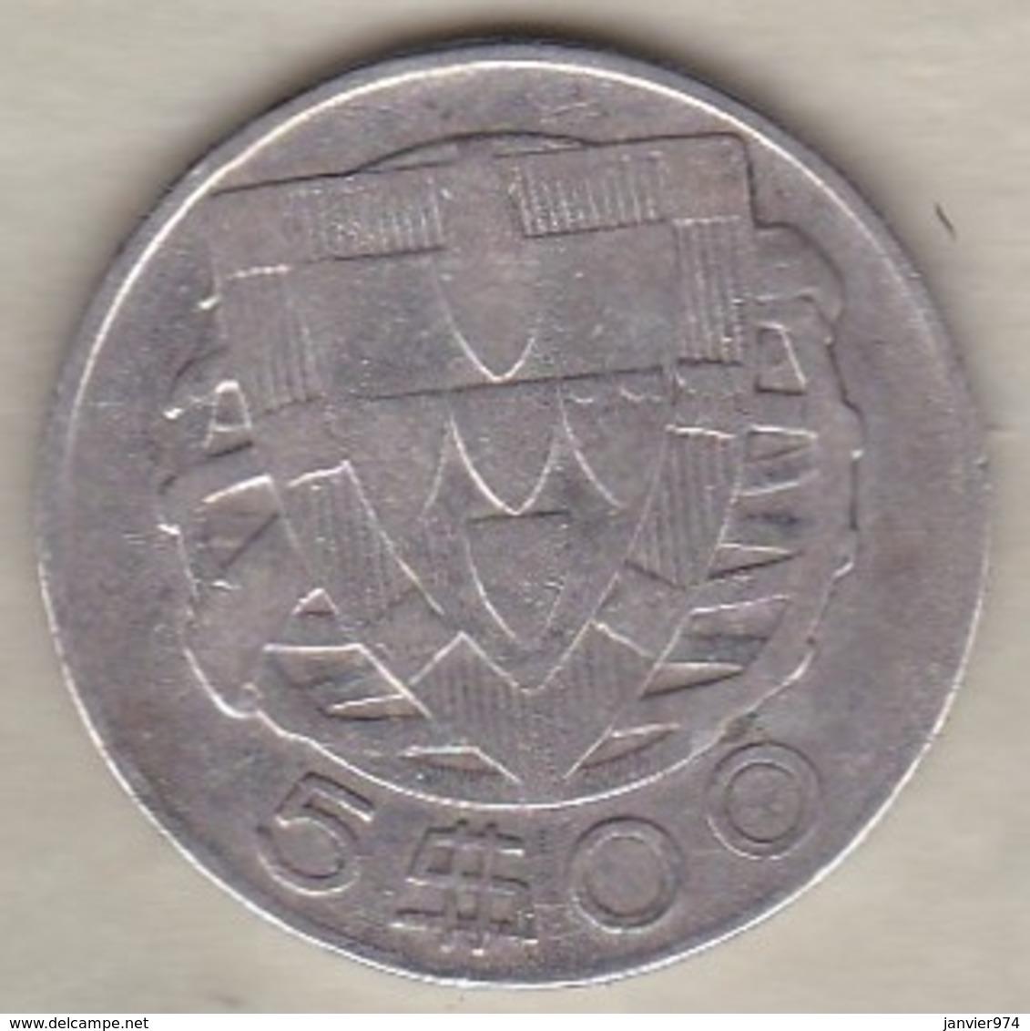 Portugal 5 Escudos 1946 En Argent - Portugal
