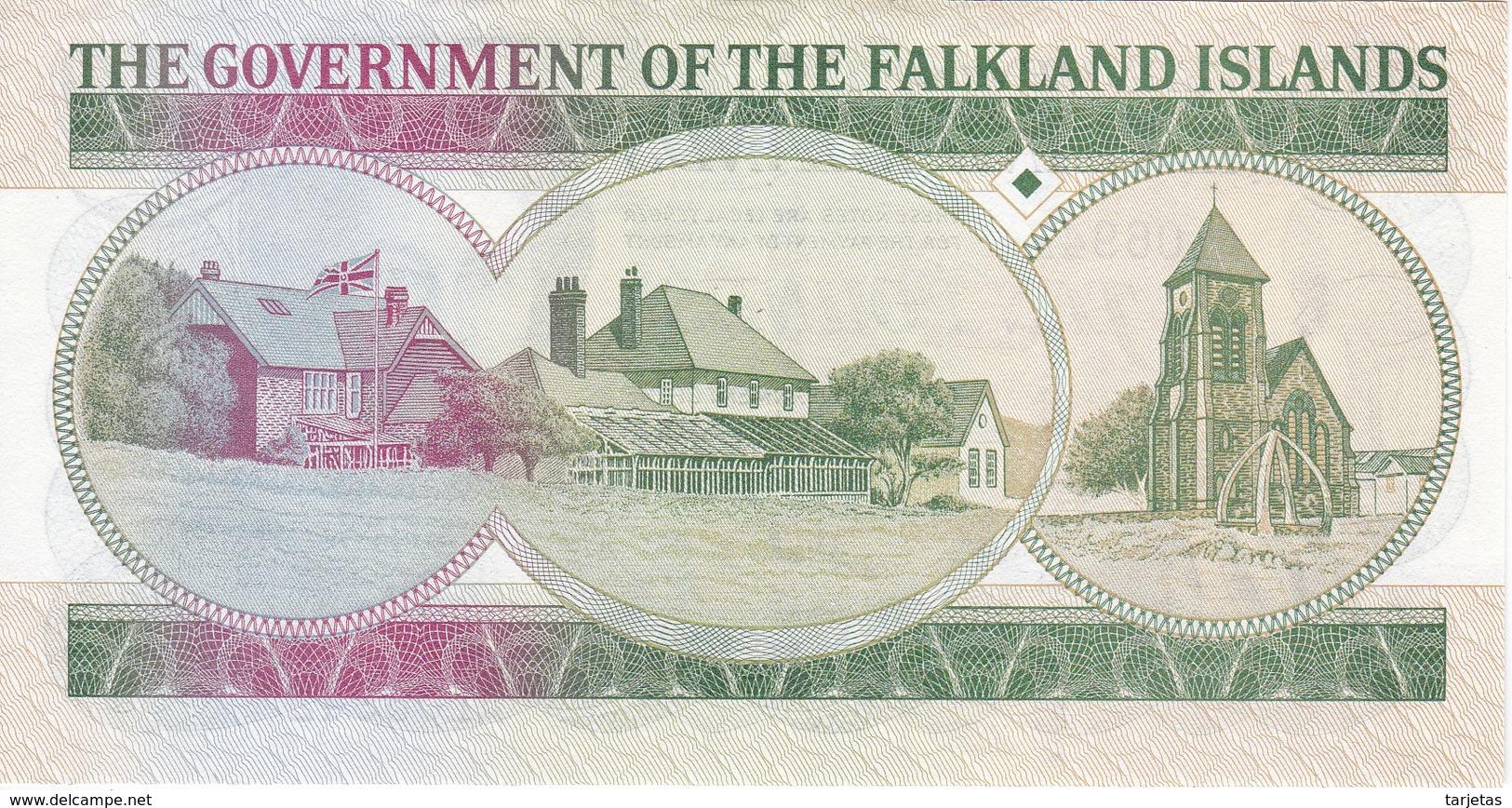 BILLETE DE FALKLAND ISLANDS DE 10 POUNDS DEL AÑO 1986 (BANKNOTE) - Falkland