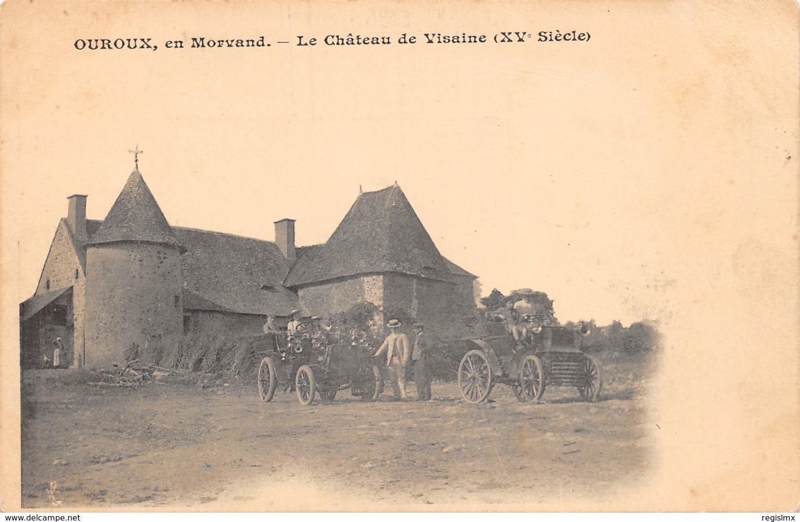 58-OUROUX-LE CHÂTEAU DE VISAINE-N°R2045-H/0177 - Autres Communes