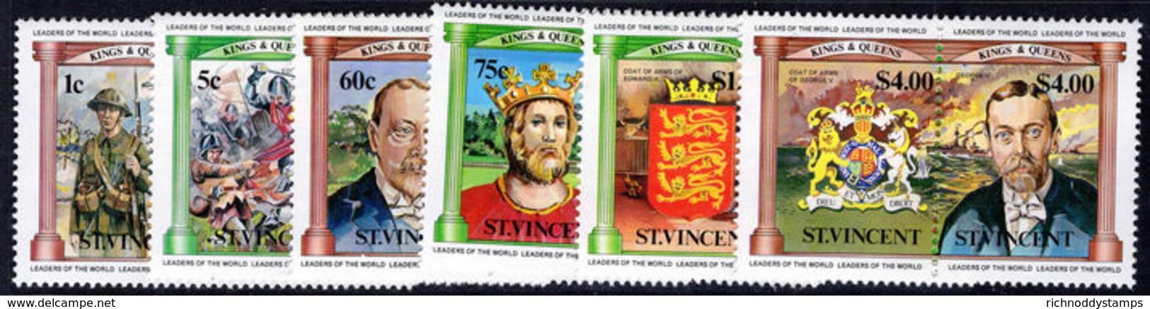 St Vincent 1984 British Monarchs Unmounted Mint. - St.Vincent (1979-...)