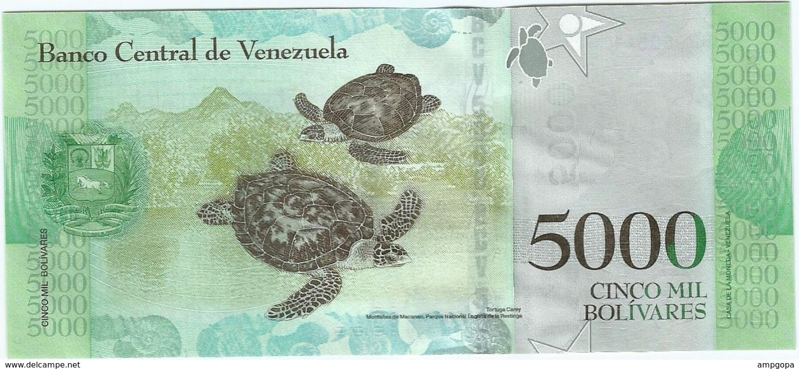 Venezuela 5.000 Bolivares 23-3-2107 Pick 97 UNC - Venezuela