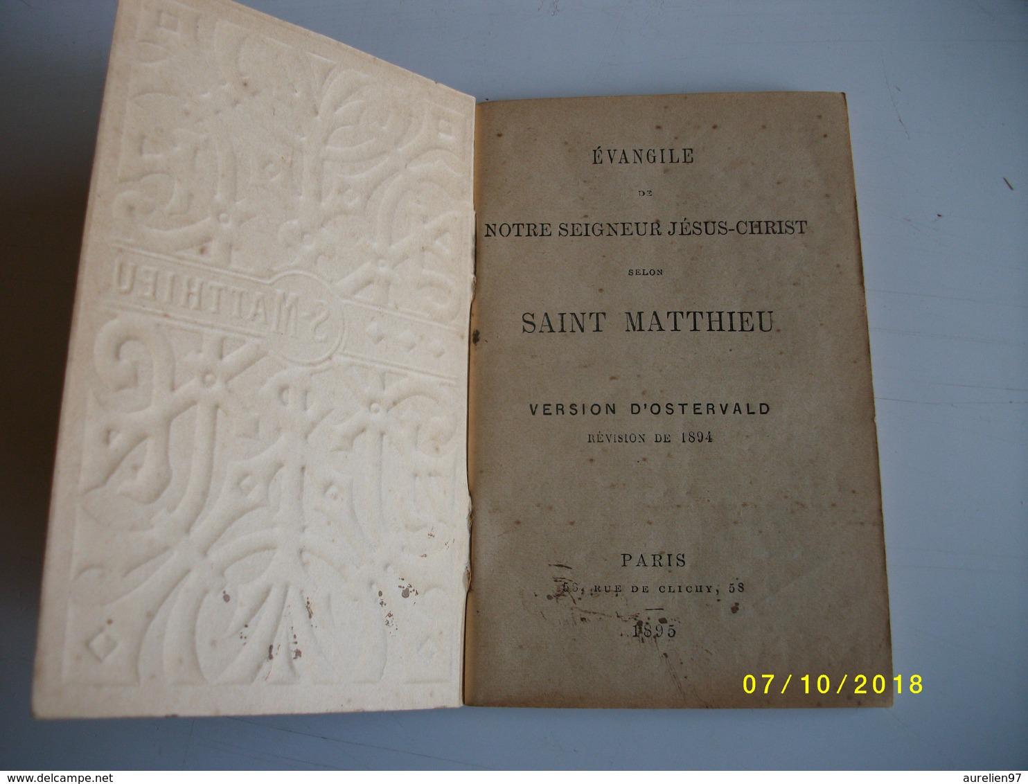 évangilr De Notre Seigneur JESUS CHRIST Selon Saint MATTHIEU 1895 - Livres, BD, Revues