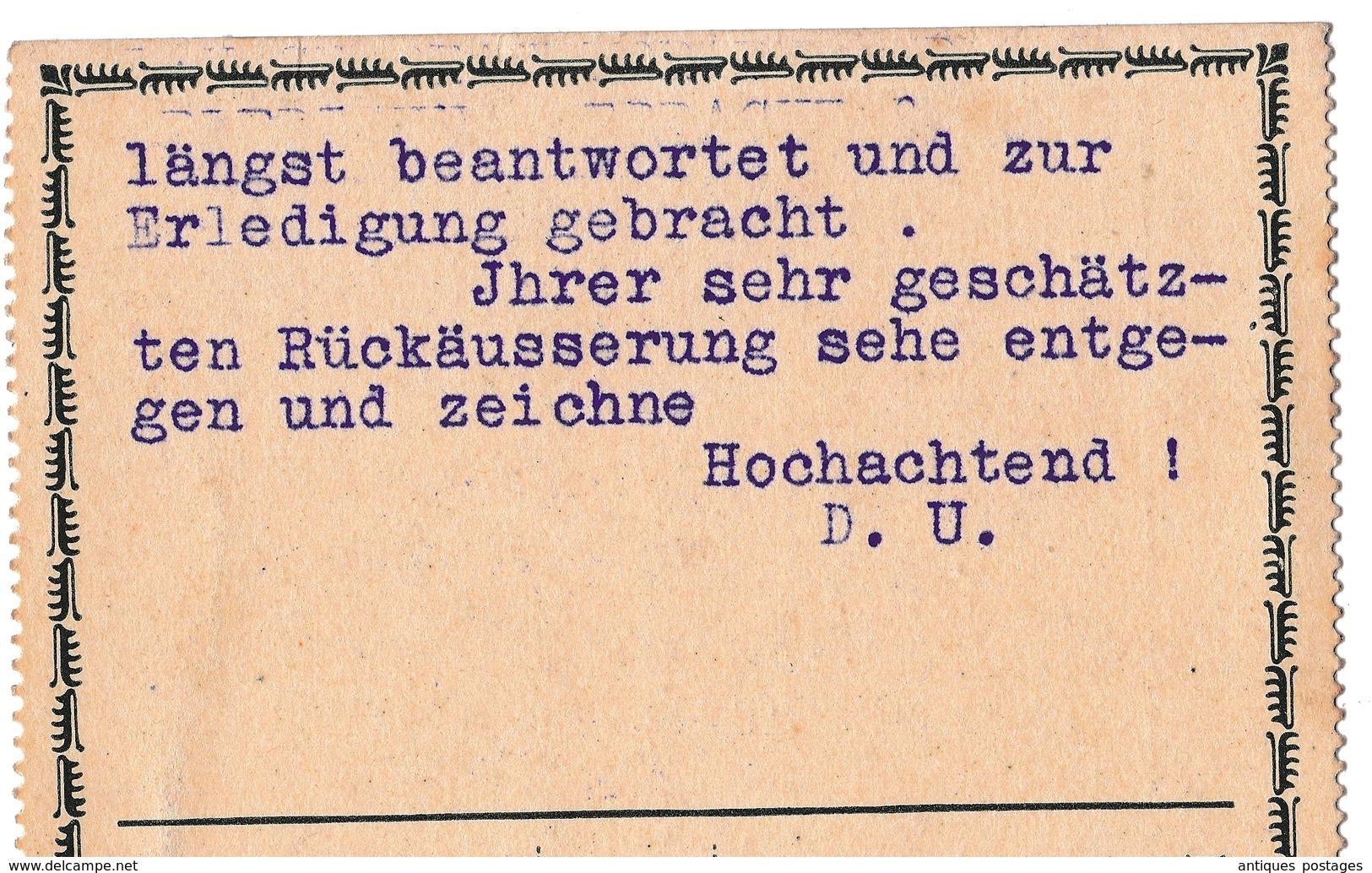 Postkarte Lichtenfels 1915 Oberfranken Deutschland Bayern D. Bamberger Frankfurt Am Main Palm Korb Möbelklopferfabrik - Lettres & Documents