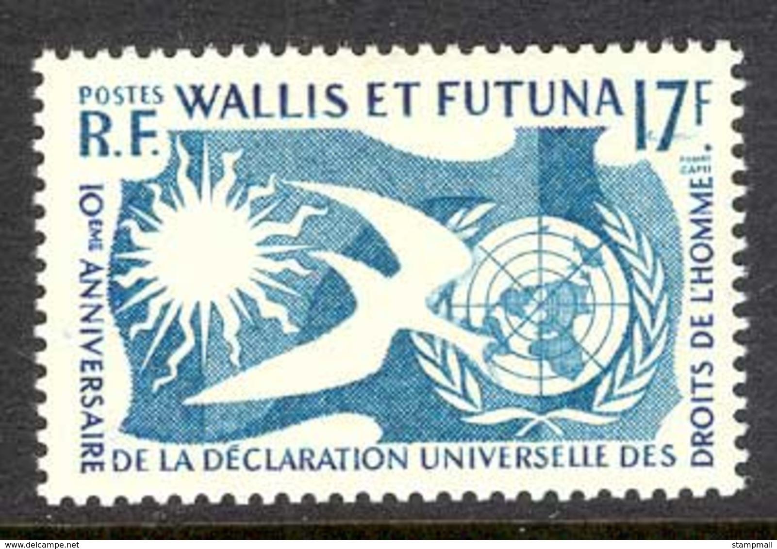 Wallis & Futuna 1958 Human Rights MLH Lot14387 - Unused Stamps