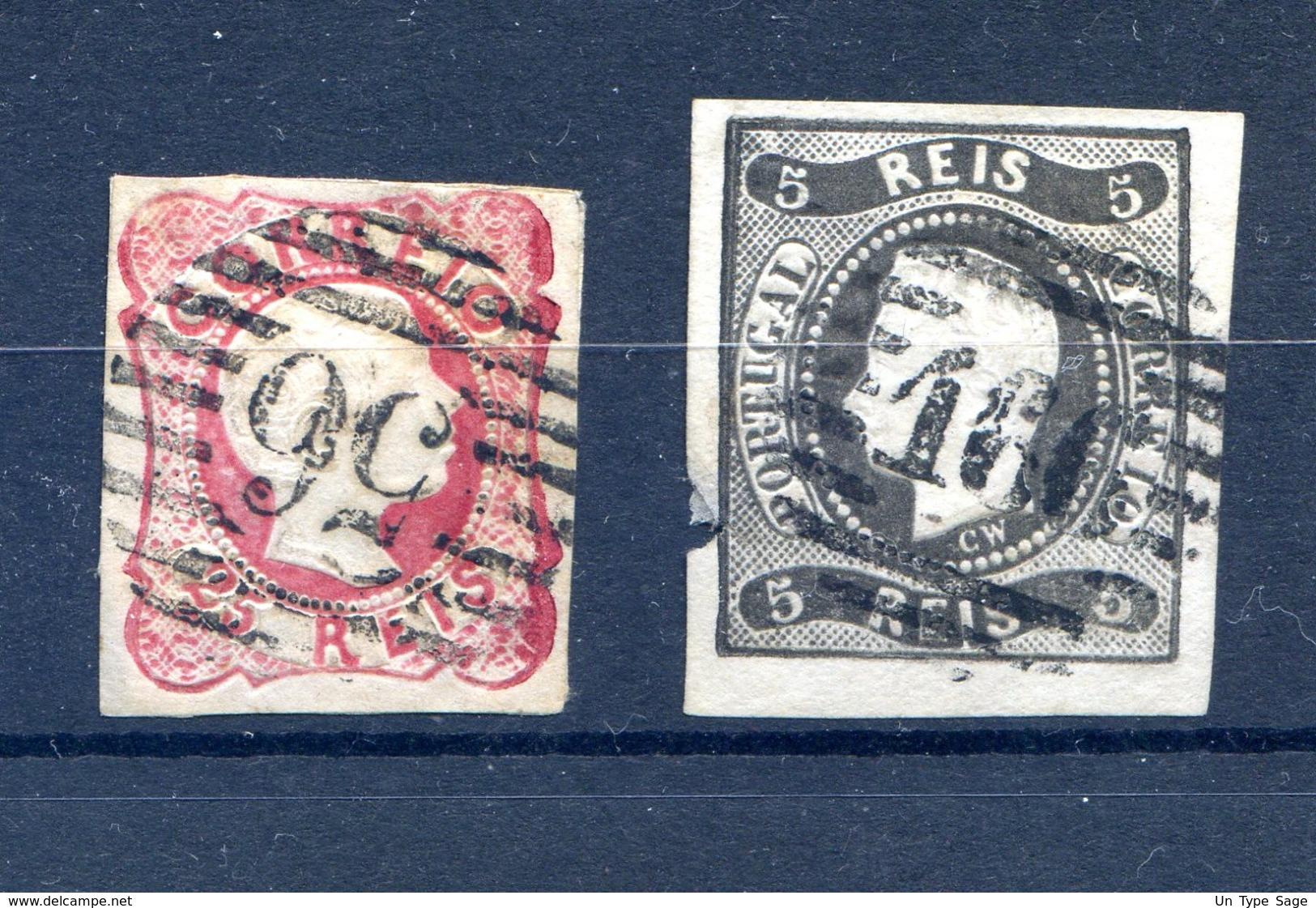 Portugal - N°12 Et 18 Oblitérés - (W1142) - 1853 : D.Maria