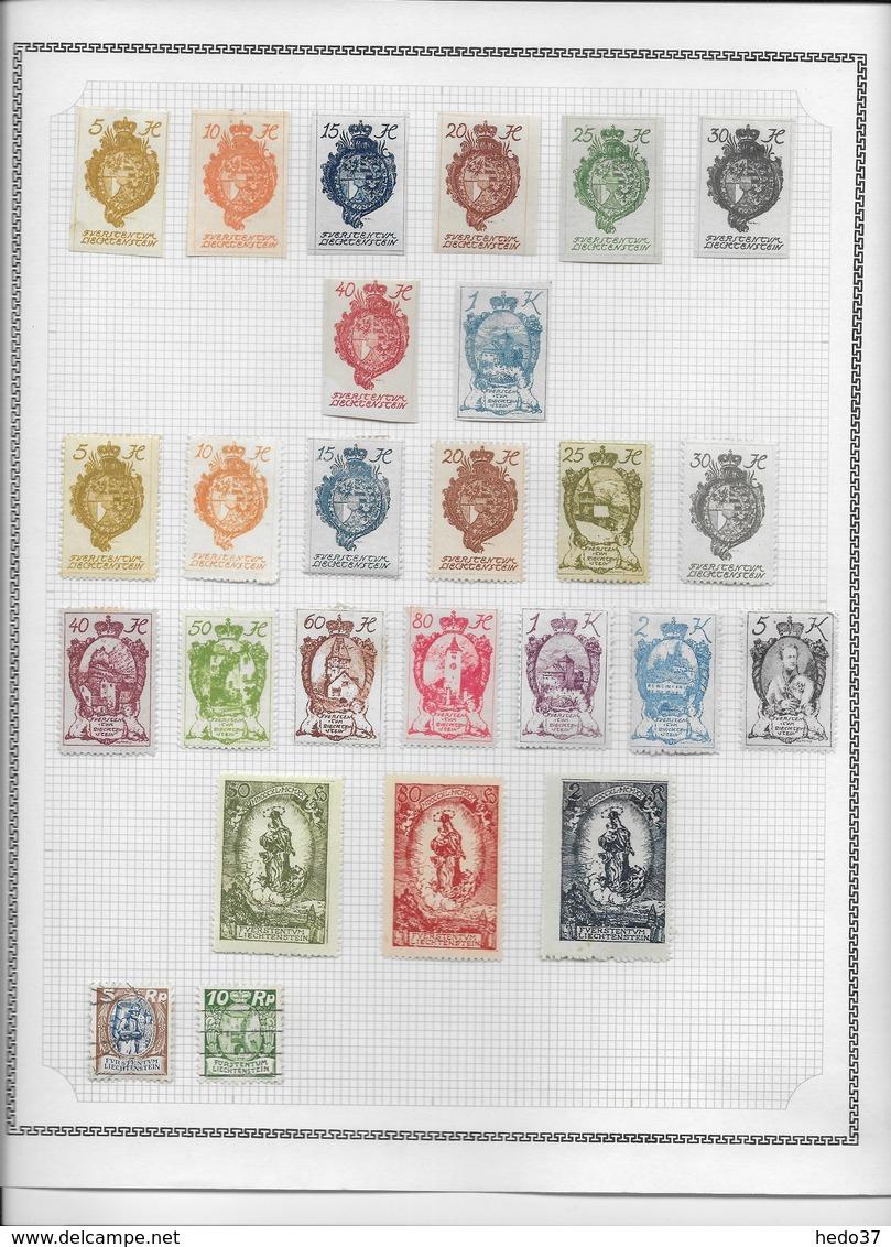Liechtenstein - Collection Vendue Page Par Page - Timbres Neufs */oblitérés - TB - Liechtenstein