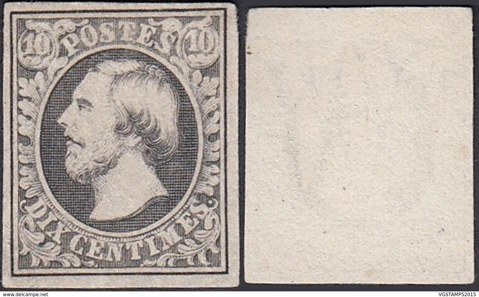 Luxembourg 1852 - Timbre Neuf Sans Gomme. Mi Nr.: 2 D. Prifix Nr.: 1 H + Certificat. (EB) DC-MV-415 - Luxembourg