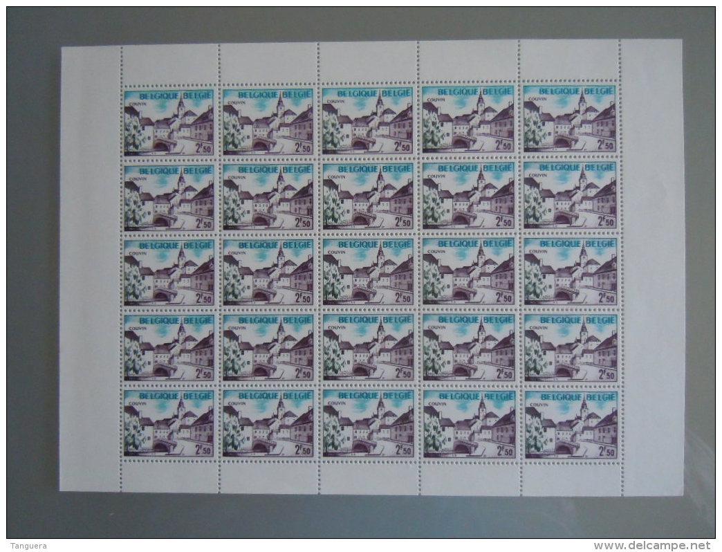 België Belgique 1972 Toerisme Tourisme Couvin Vel Feuillet De 25 Cob 1636 MNH ** - Full Sheets