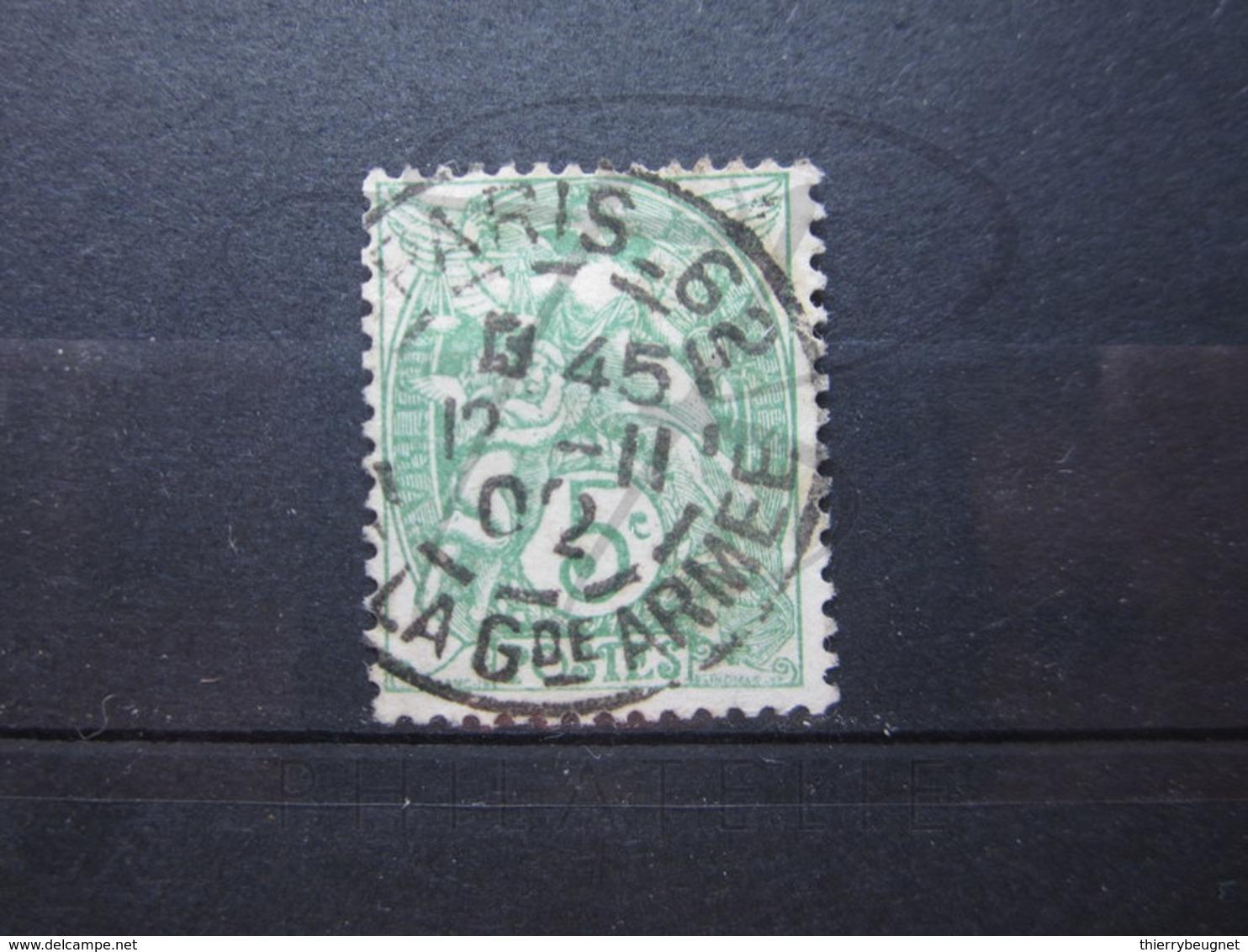 """VEND BEAU TIMBRE DE FRANCE N° 111 , CACHET """" PARIS - R. DE LA GDE ARMEE """" !!! - 1900-29 Blanc"""