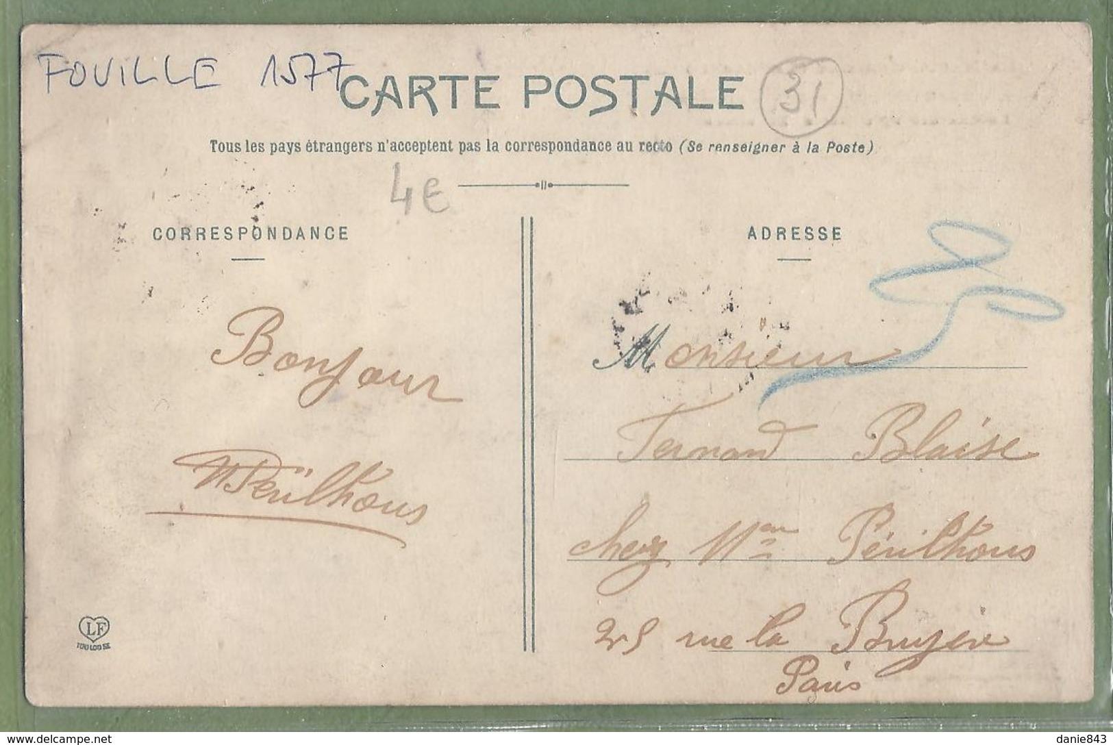 CPA - HAUTE GARONNE (Lauragais) - BEAUTEVILLE - LE CHATEAU ET L'EGLISE - Belle Animation - Labouche Frères / 639 - Sonstige Gemeinden