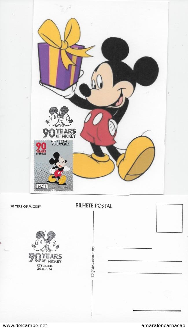 CARTE MAXIMUM - TARJETA MAXIMA - MAXIMUM CAR - MAXIMUM KARTEN - MAXICARD - PORTUGAL - 90 YERS OF MICKEY - Disney