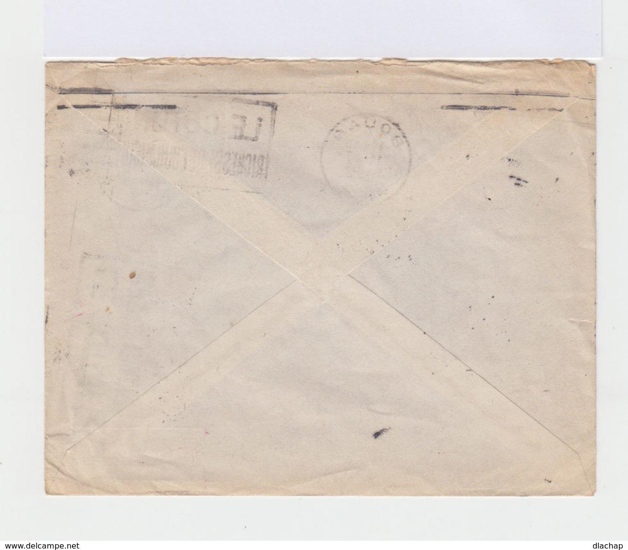 Sur Enveloppepar Avion Timbre FM. CAD Bouar 1952. Tampon Détachement Motorisé. (735) - A.E.F. (1936-1958)