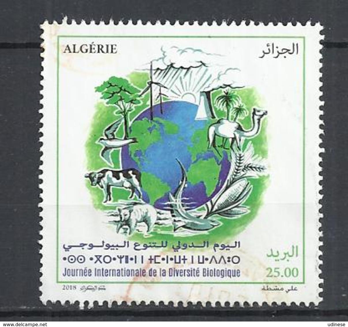 ALGERIA 2018 - INTERNATIONAL DAY FOR BIOLOGICAL DIVERSITY - USED OBLITERE GESTEMPELT USADO - Autres