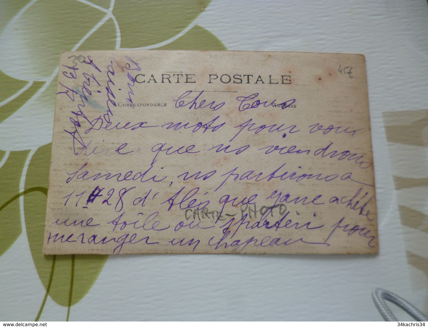 Carte Photo 30 Gard Saint Pons Le Pin La Gare BE - France