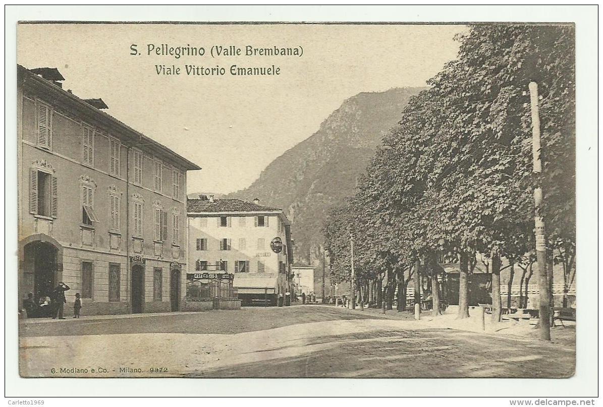 S.PELLEGRINO - VIALE VITTORIO EMANUELE   - NV FP - Bergamo