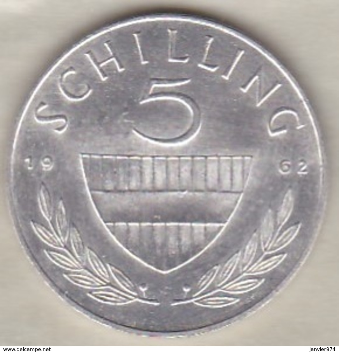 Autriche 5 Schilling 1962 En Argent - Autriche
