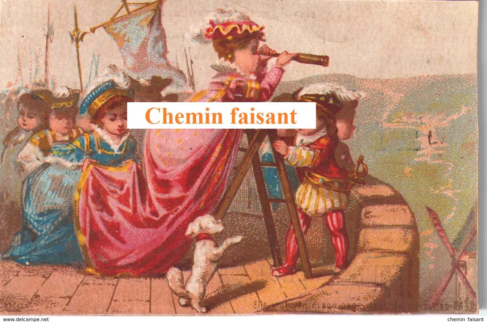Chromo RABIE JEUNE Chapellerie Béziers 34 -  -  Scans Recto-verso - Chromos