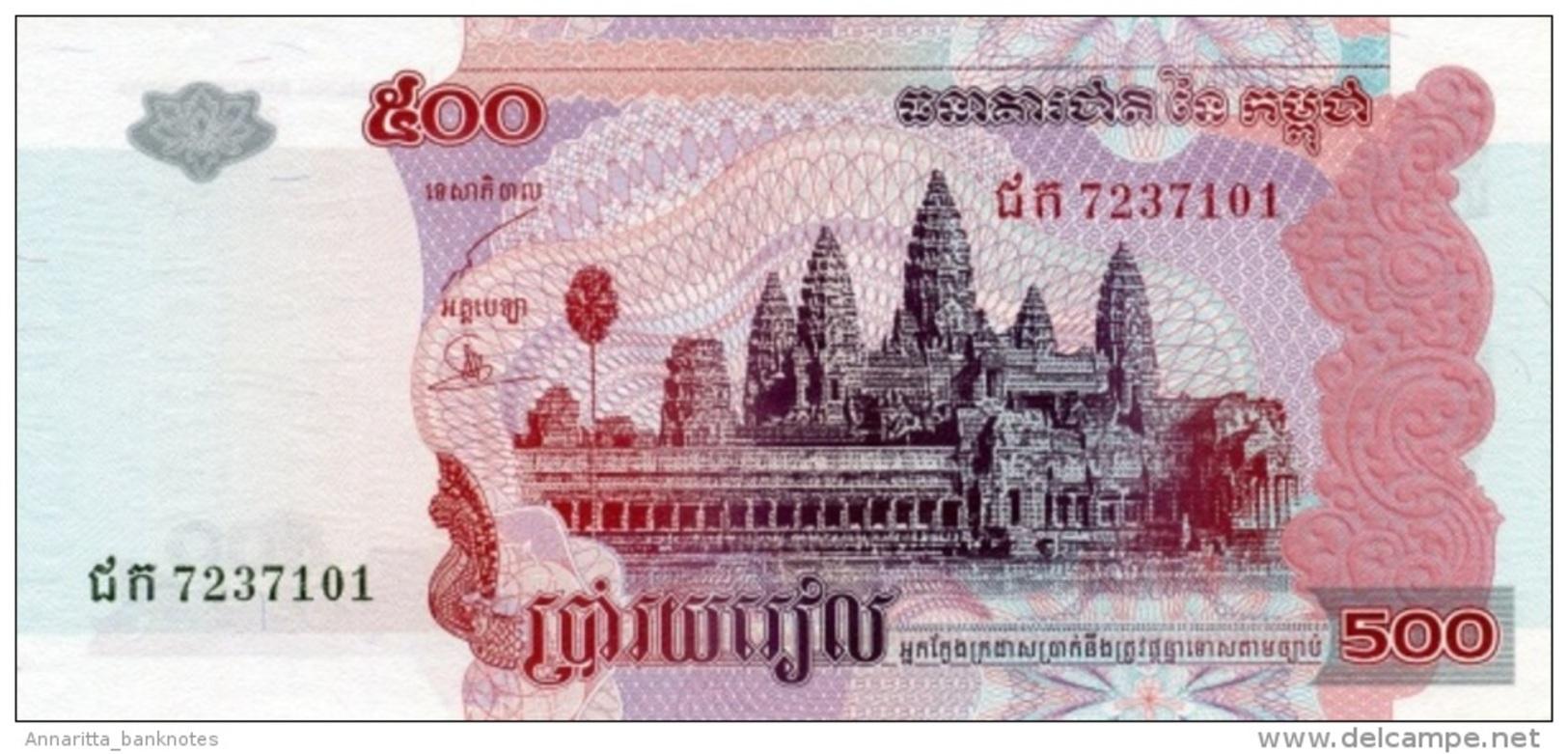 CAMBODIA 500 RIELS 2004 P-54b UNC [KH417b] - Cambodia