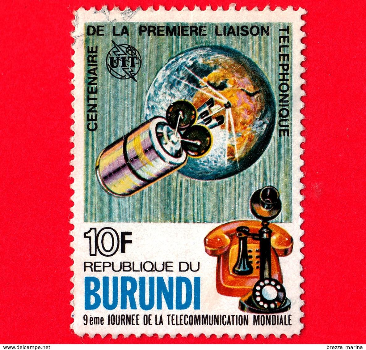 BURUNDI - Usato - 1977 - Centenario Del Telefono - Giornata Mondiale Telecomunicazioni - 10 - Burundi