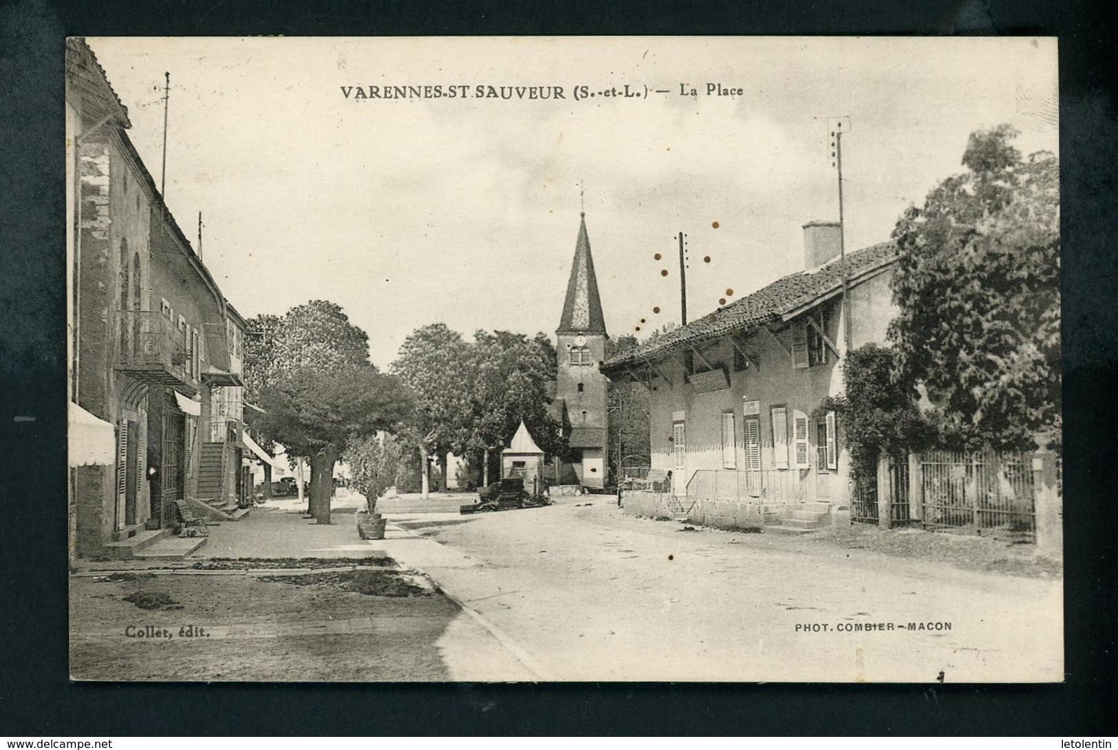 CPA: 71 - VARENNES-St-SAUVEUR - LA PLACE - France