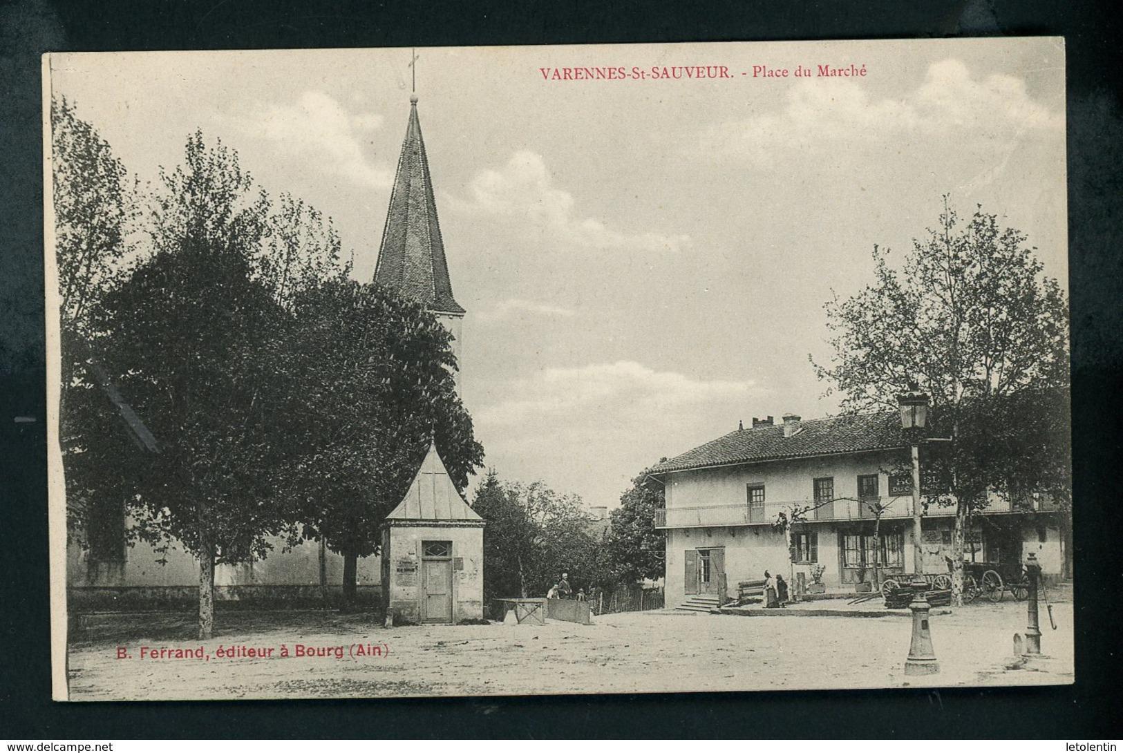 CPA: 71 - VARENNES-St-SAUVEUR - PLACE DU MARCHÉ - France