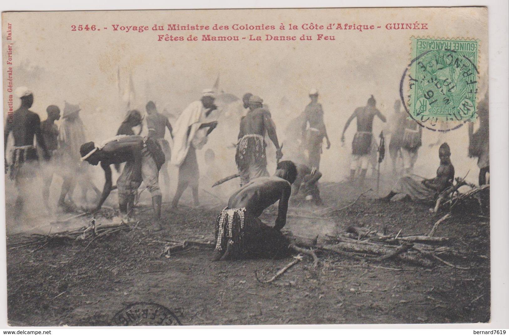 Haute Guinee Voyage  Du Ministre Des Colonies A La Cote D'afrique Guinee  Fetes De Mamou La Danse Du Feu - Guinea Francesa