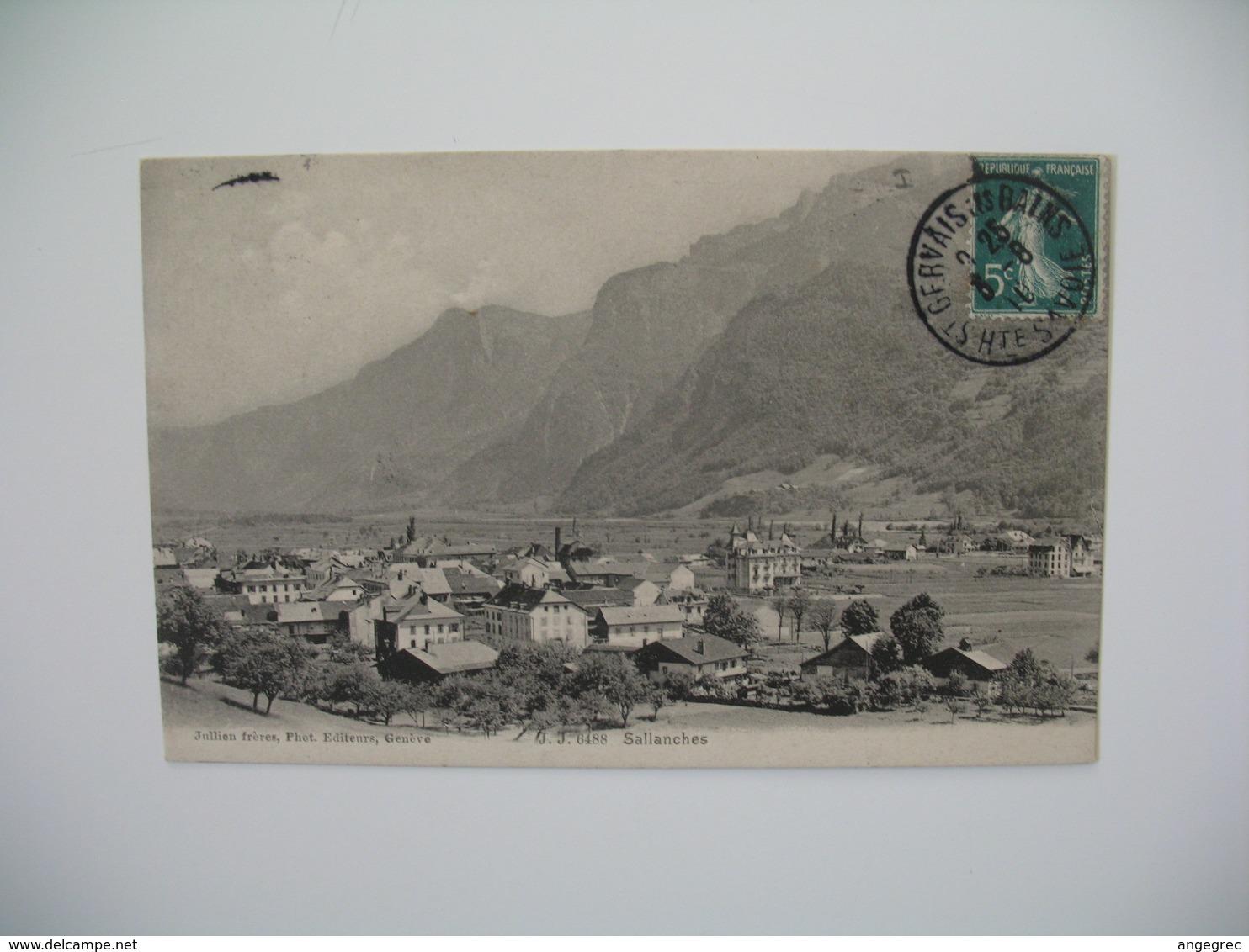 Carte    Sallanches  Vue Générale     1910 - France