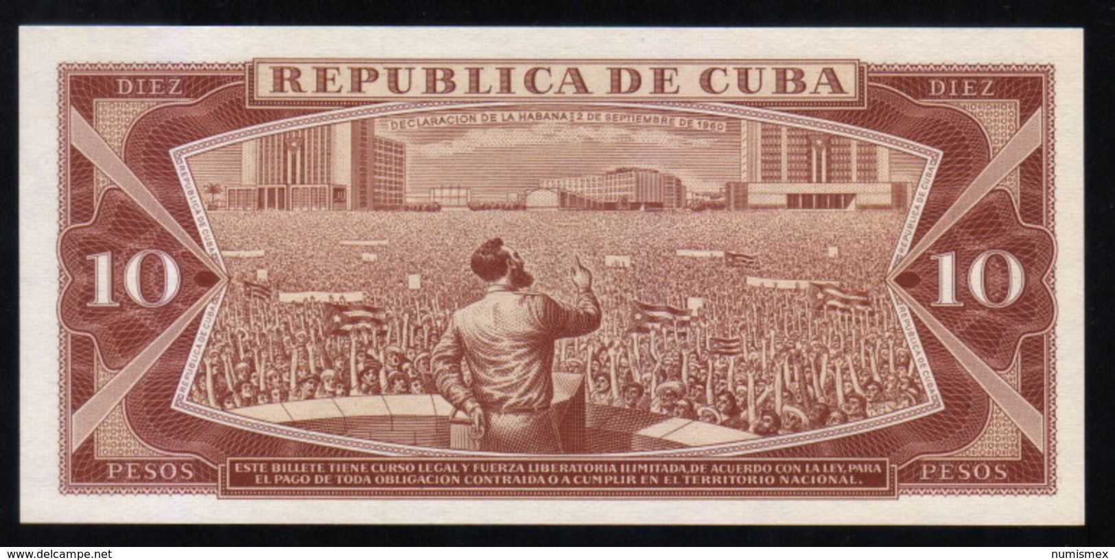 Caribe  / 10 PESOS 1986 Serie FC-01 000601 FIRST SERIE LOW NUMBER Pick 104c UNC - Cuba