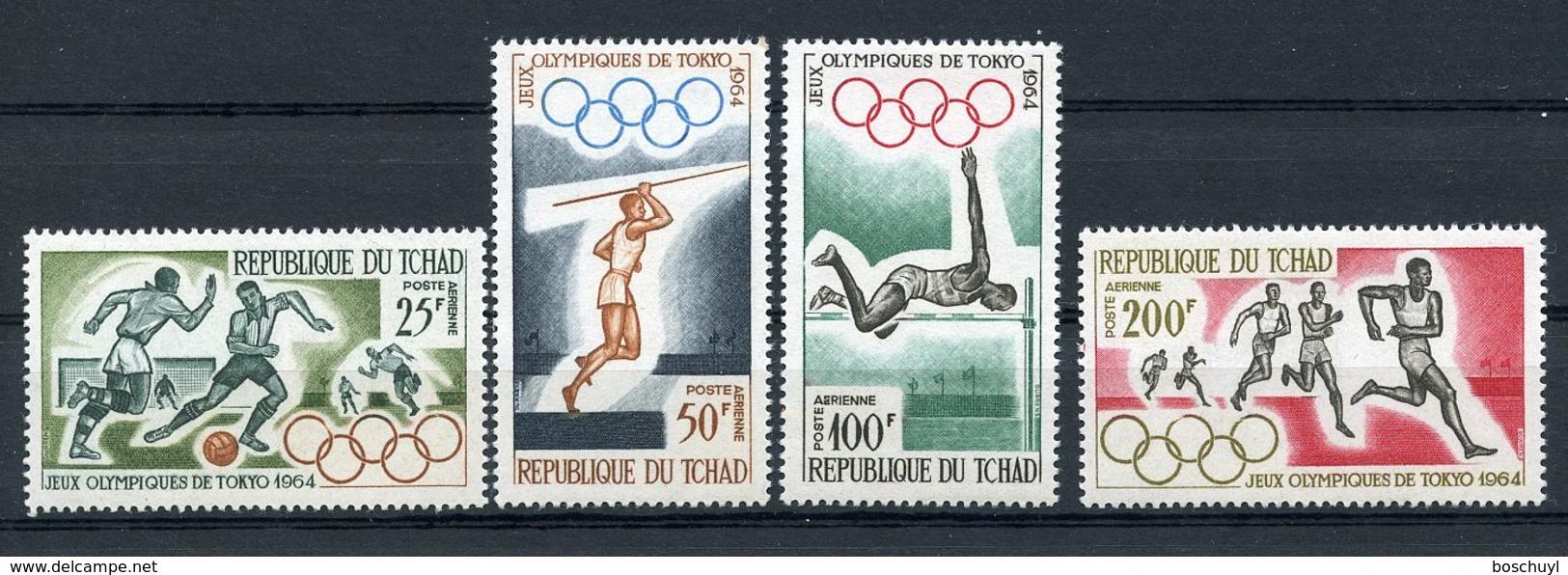 Chad, 1964, Olympic Summer Games Tokyo, Sports, MNH, Michel 120-123 - Tsjaad (1960-...)