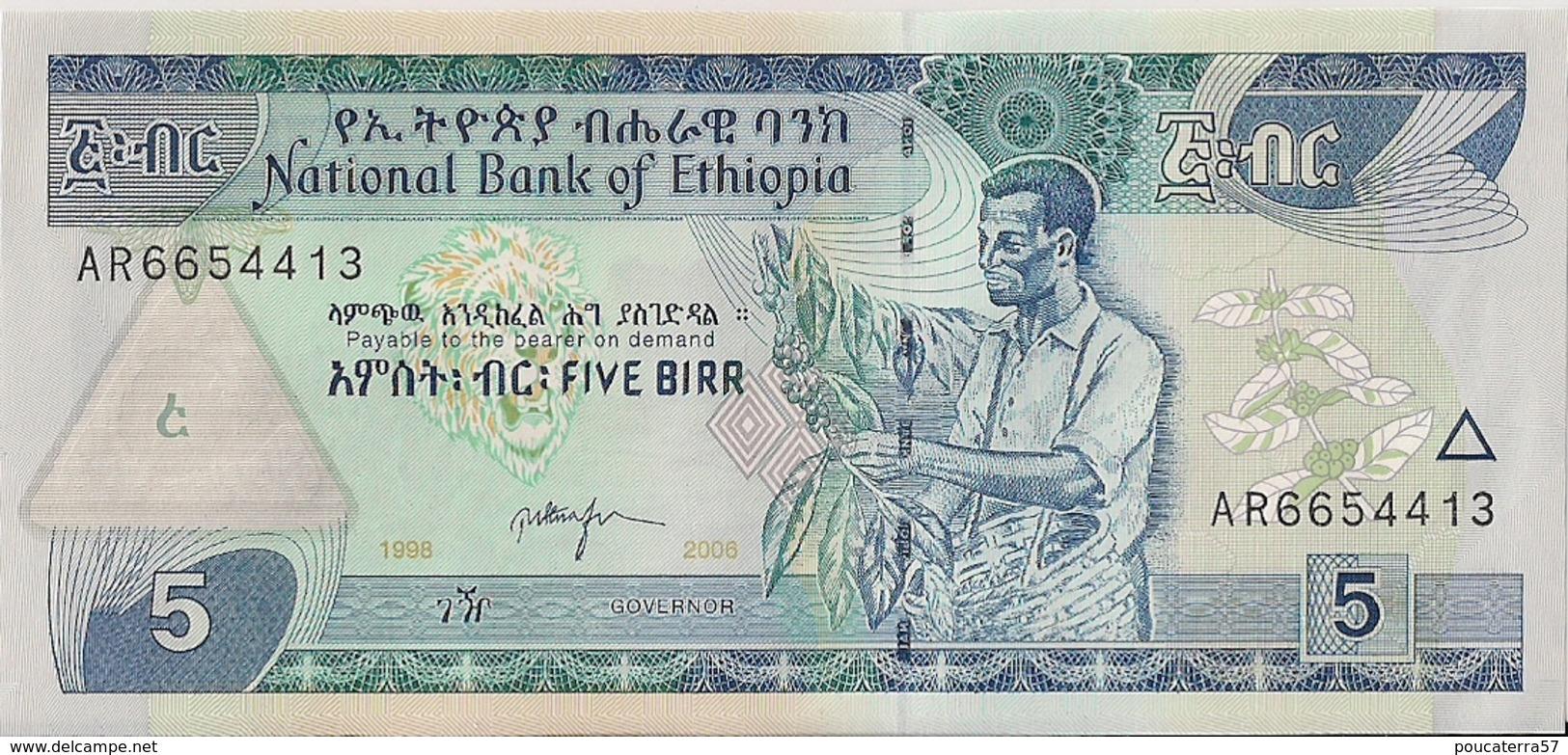 ETHIOPIA=1998   5  BIRR     P-47     UNC - Ethiopie