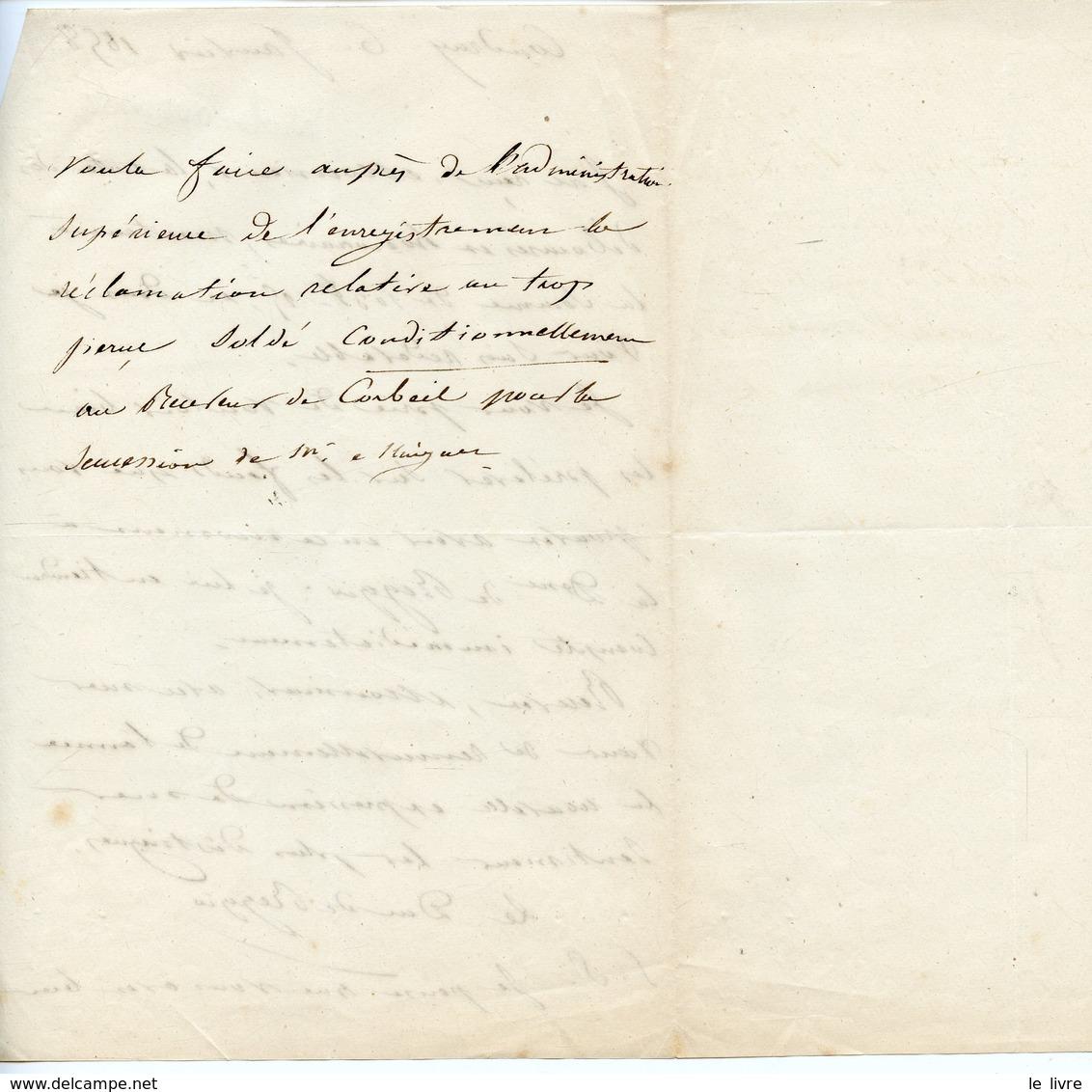 181. GOUVERNEUR DES INVALIDES NICOLAS CHARLES OUDINOT DUC DE REGGIO (BAR-LE-DUC 1791-1863). LAS DE COUDRAY 1858 - Autogramme & Autographen