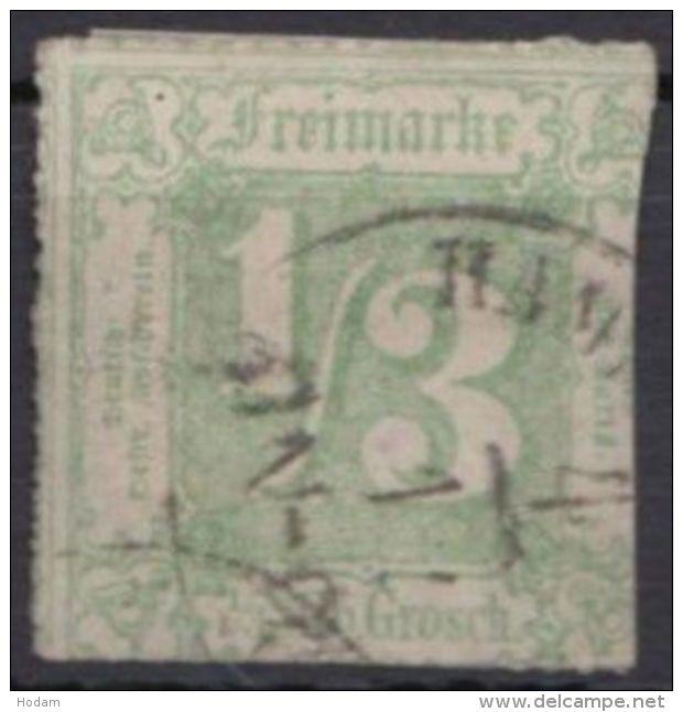 """36, Ortsstempel """"Hamburg"""", Rechts Scherentrennung - Thurn Und Taxis"""