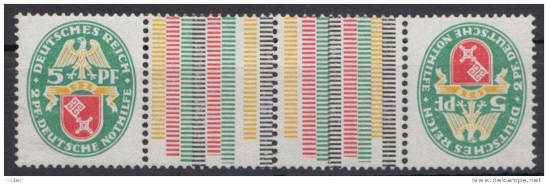 """KZ 13 """"Nothilfe 1929"""", **/*, Kleine Haftstelle, Kein Falz - Zusammendrucke"""