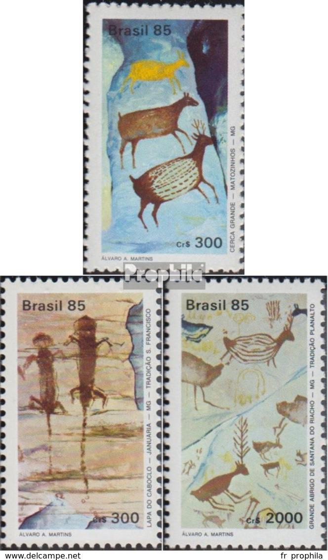 Brésil 2108A-2110A (complète.Edition.) Oblitéré 1985 Exposition Philatélique - Usati