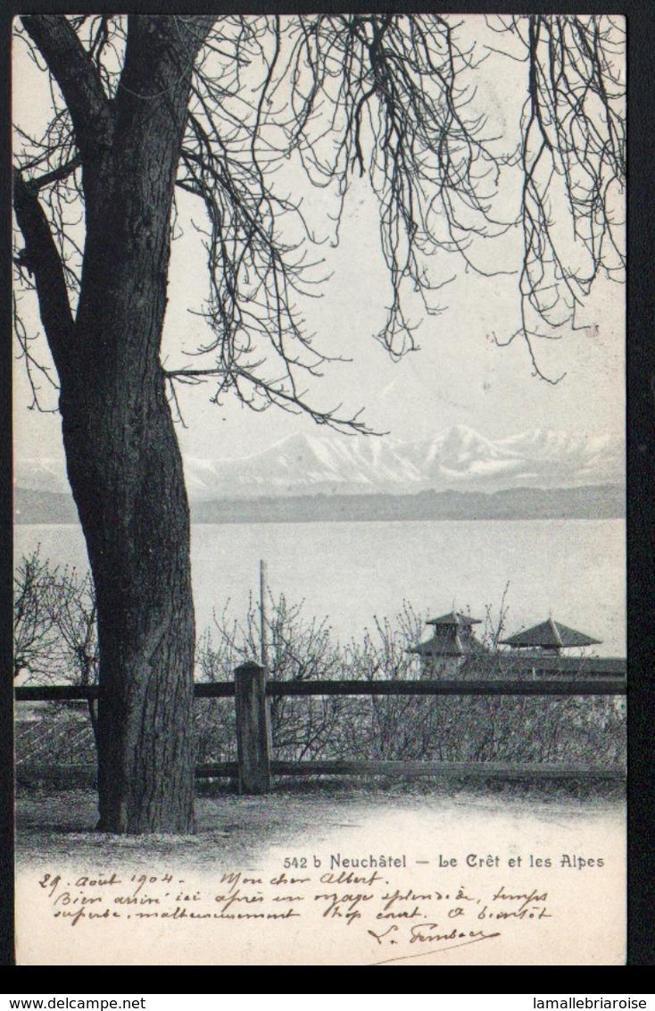 Suisse, Neuchatel, Le Cret Et Les Alpes - NE Neuchâtel