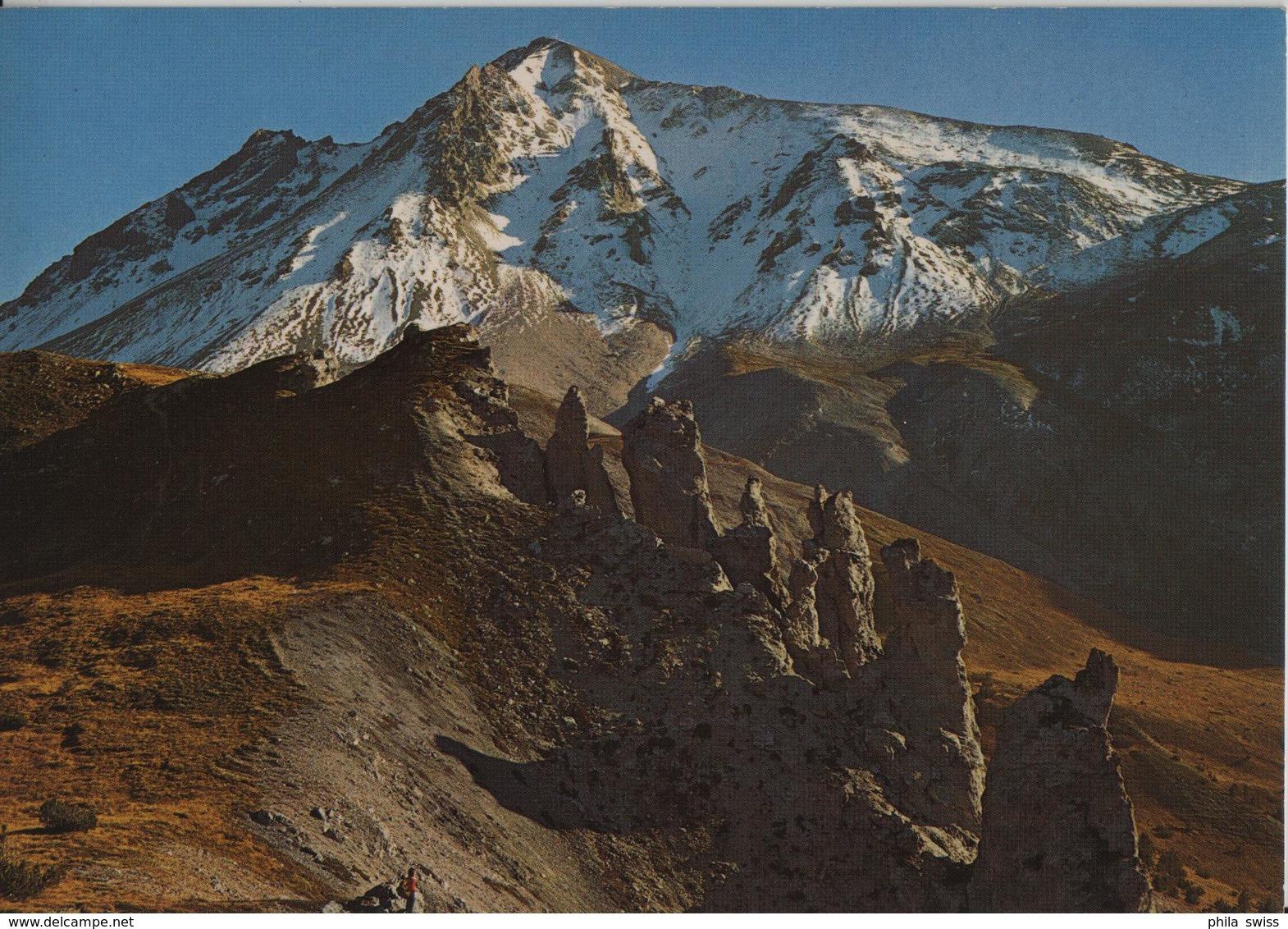 Ofenpass-Gebiet, Felsenpyramiden Am Jalett - Blick Auf Val Murtaröl Und Piz Daint - GR Grisons