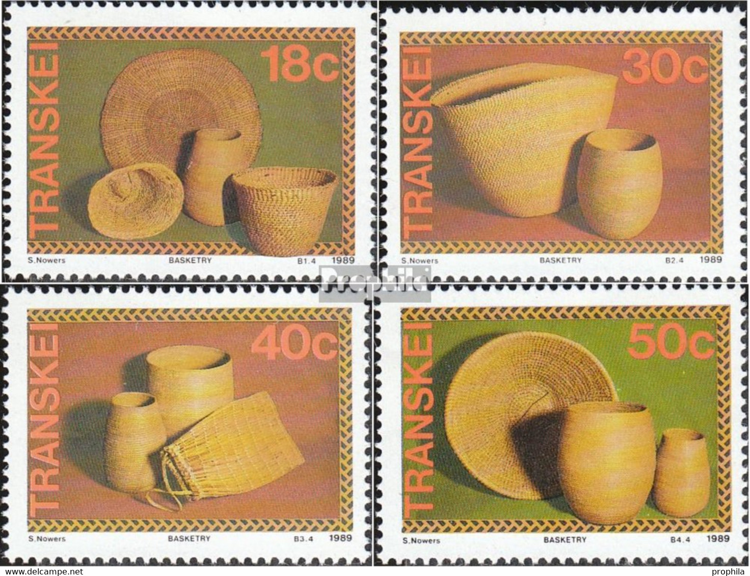 Südafrika - Transkei 234-237 (kompl.Ausg.) Postfrisch 1989 Korbwaren - Transkei