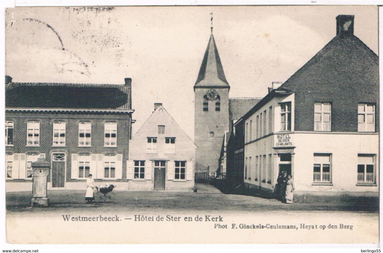 Westmeerbeeck - Hôtel De Ster En De Kerk 19..  (Geanimeerd) - Hulshout
