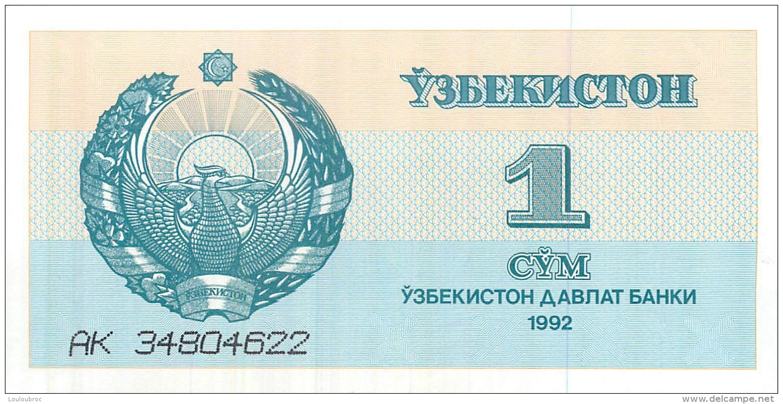BILLET  UZBEKISTAN   1  CYM - Bankbiljetten