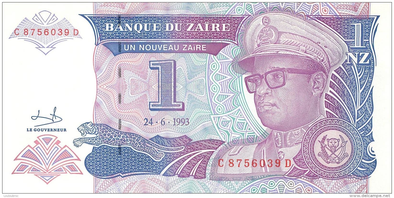 BILLET   ZAIRE  1 NOUVEAU ZAIRE - Zaïre
