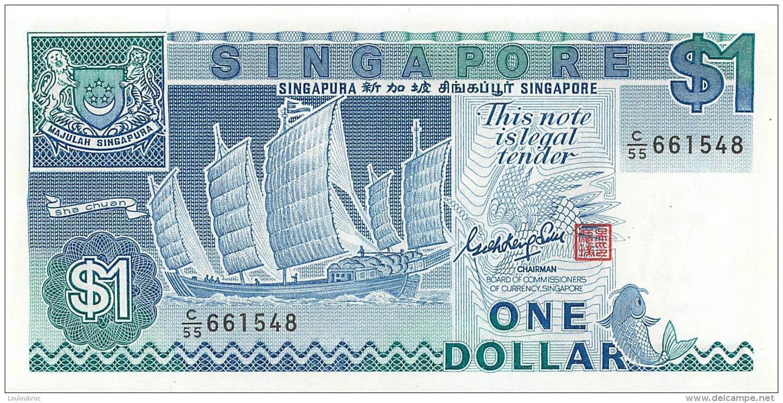 BILLET  SINGAPORE  ONE DOLLAR - Singapore