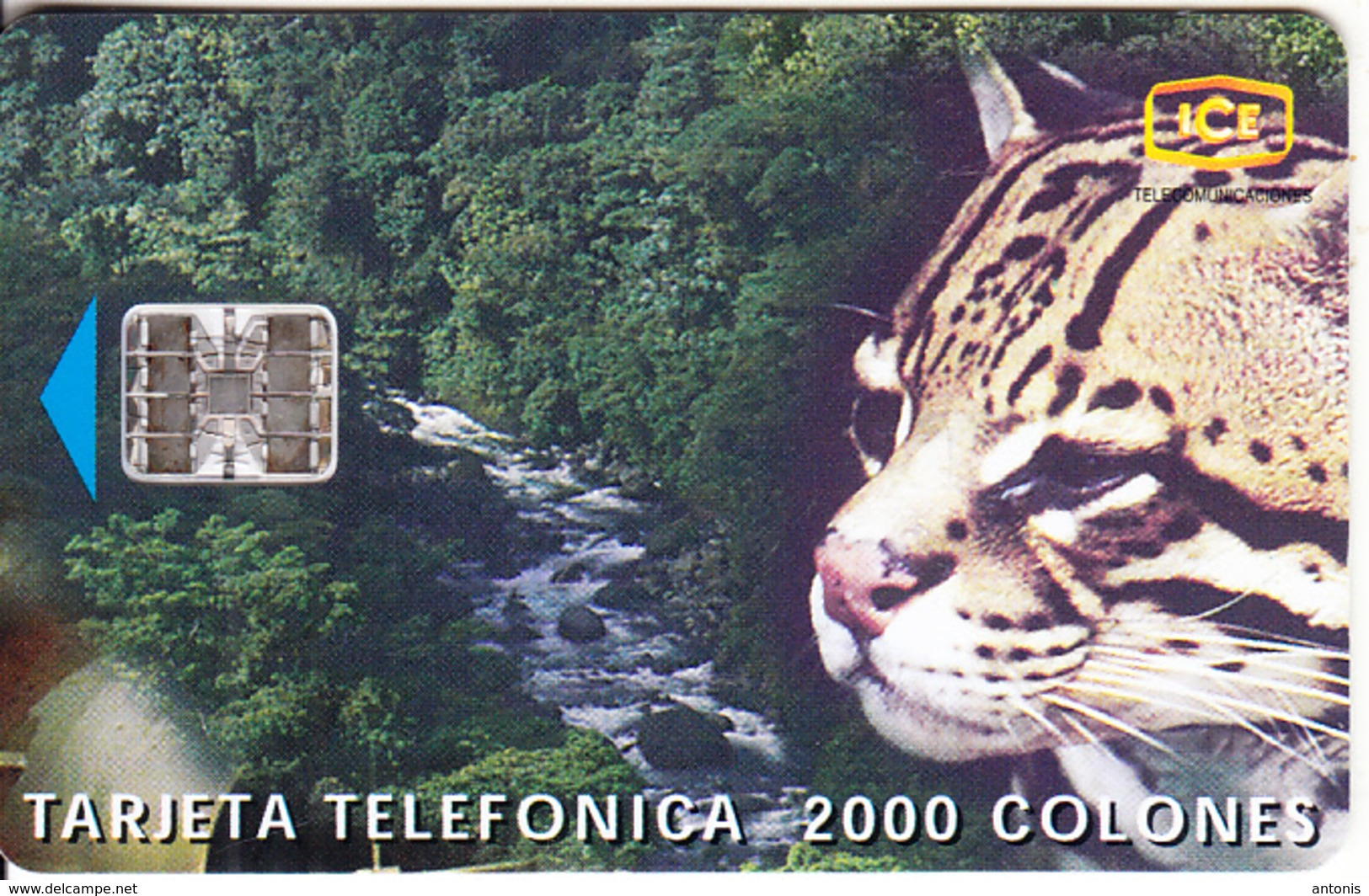 COSTA RICA - Panther, Tirage 50000, 10/97, Used - Costa Rica