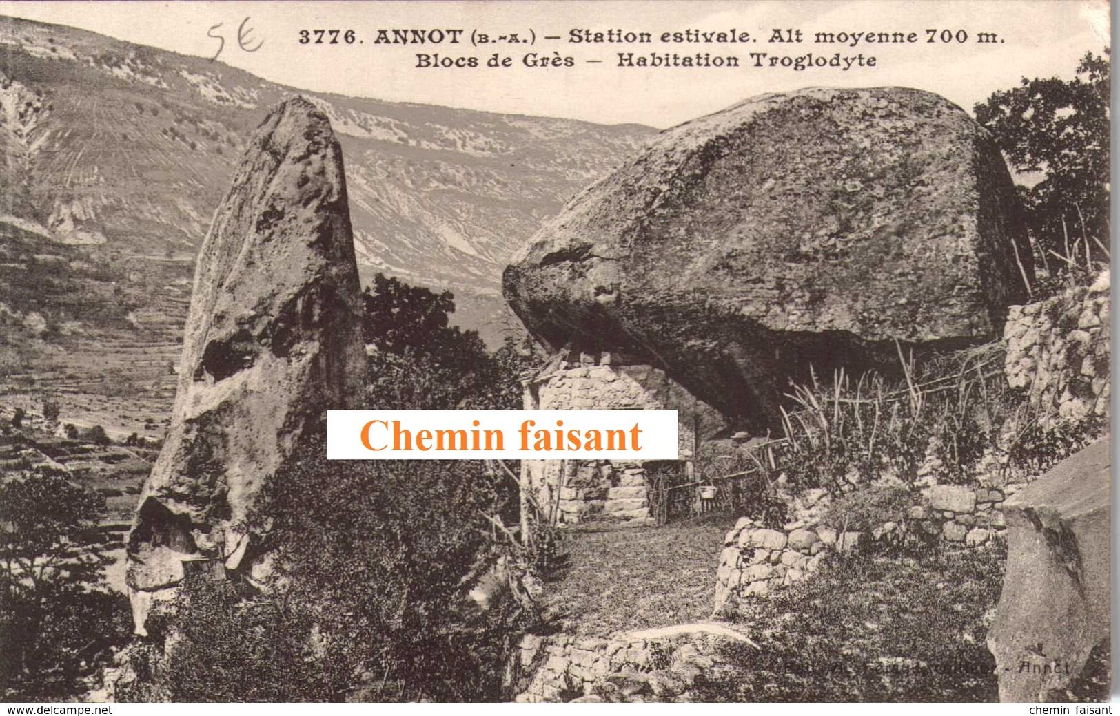 04 - CPA ANNOT Habitation Troglodyte - Scans Recto-verso - Francia