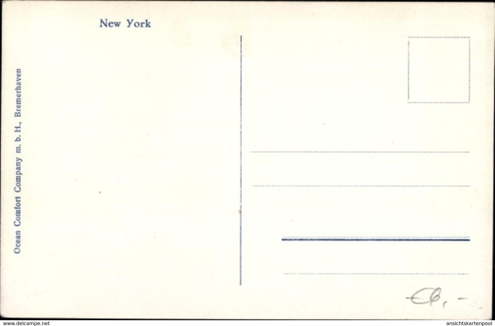 Cp New York City USA, Wolkenkratzerviertel Des Unteren Broadway - Autres