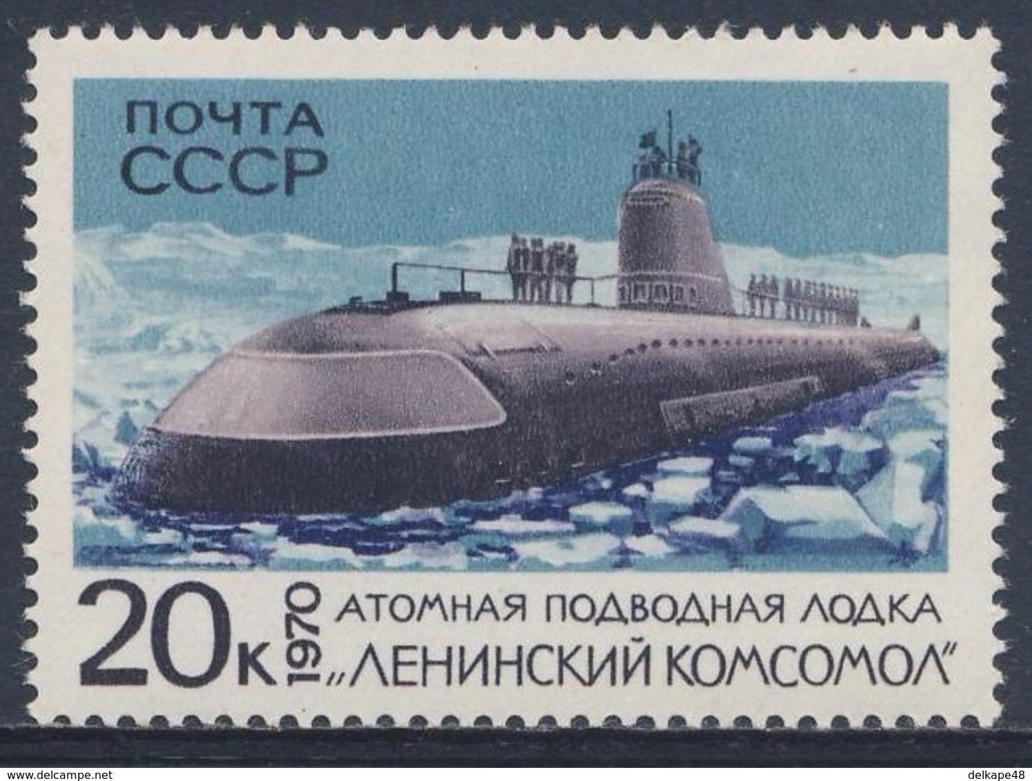 "Soviet Unie CCCP Russia 1970 Mi 3785 SG 3847 ** Nuclear Submarine ""Leninsky Komsomol"" / Atom-Unterseeboot - Duikboten"
